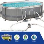 Power Steel Pool – 56617 – 9ft 10in X 6ft 7in X 33in By Bestway