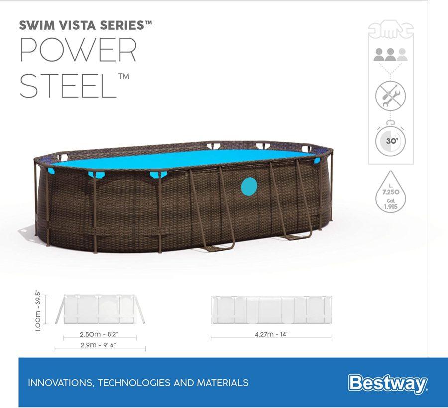14′ X 8'2″ X 39.5″ Swim Vista Oval
