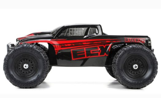 Ruckus 4wd Monster Truck: Blk/Red 1:18 RTR INT