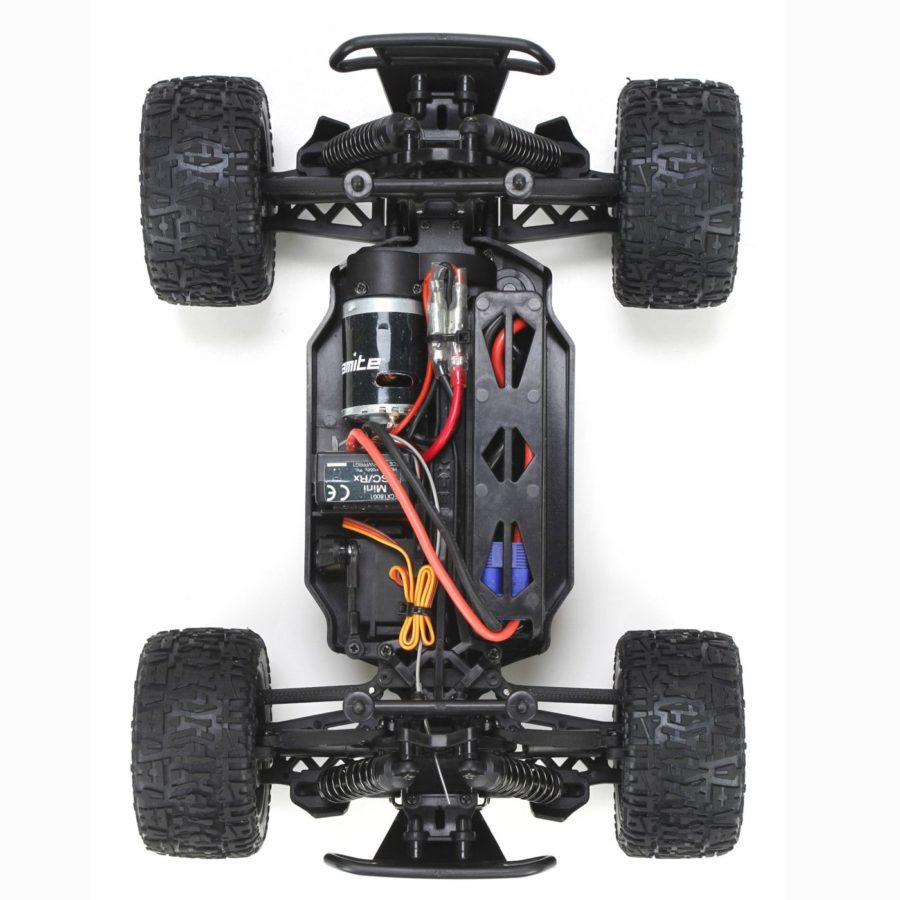 Ruckus 4wd Monster Truck: Blk|red 1:18 Rtr Int