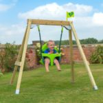 Tp Forest Acorn Growable Wooden Swing Set With Seats