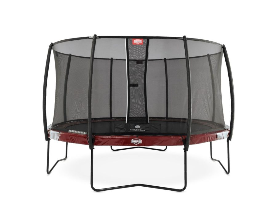 Berg Elite 380 12.5ft Trampoline With Safety Net Deluxe – Red