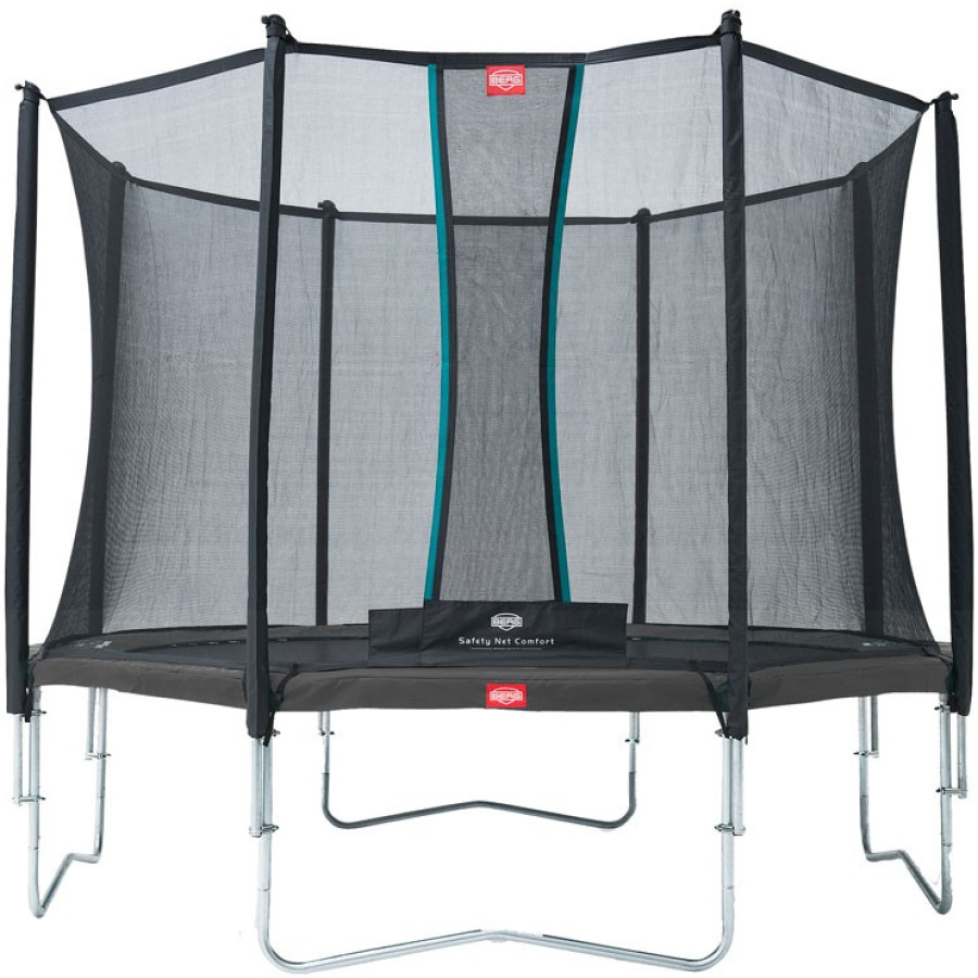 Berg Favorit 330 11ft Trampoline With Comfort Saffety Net – Grey