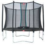 Berg Favorit 380 12ft 5 Trampoline With Comfort Saffety Net – Grey