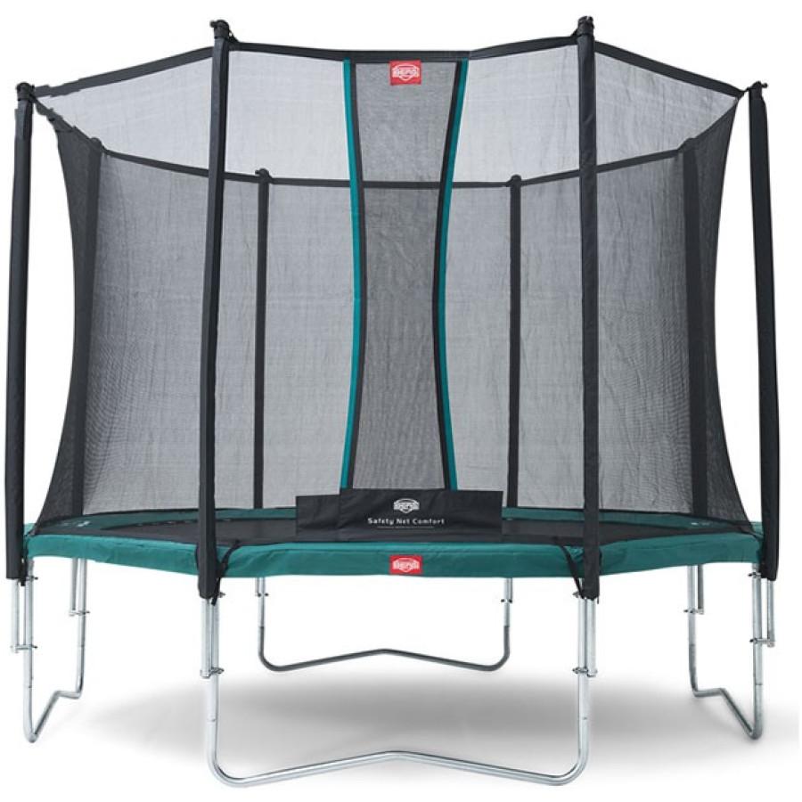 Berg Favorit 380 12ft 5 Trampoline With Comfort Saffety Net – Green