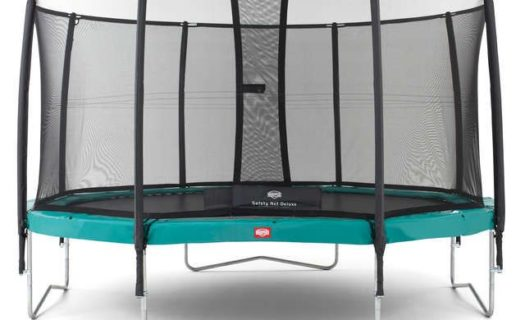Berg Champion 430 14ft Trampoline With Safety Net Delux – Green