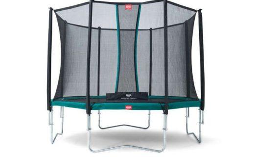BERG Favorit 430 14ft Trampoline with Comfort Saffety Net – Grey