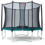Berg Favorit 430 14ft Trampoline With Comfort Saffety Net – Green