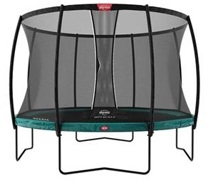 Berg Elite 430 14ft Trampoline With Safety Net Delux – Green