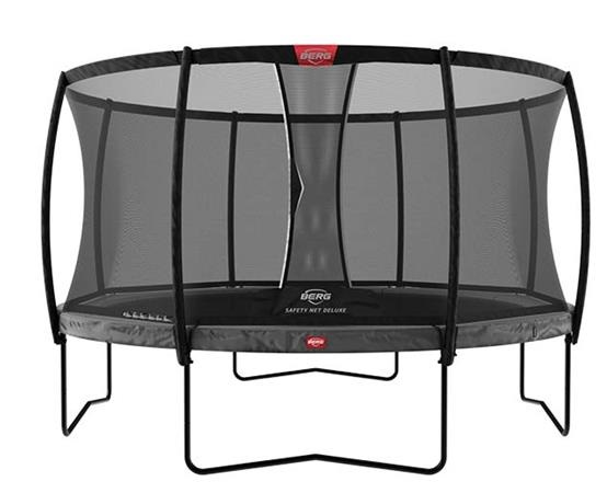 Berg Champion 12.5ft Trampoline With Safety Net Deluxe – Grey