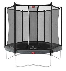 Berg Favorit 430 14ft Trampoline With Comfort Safety Net – Grey