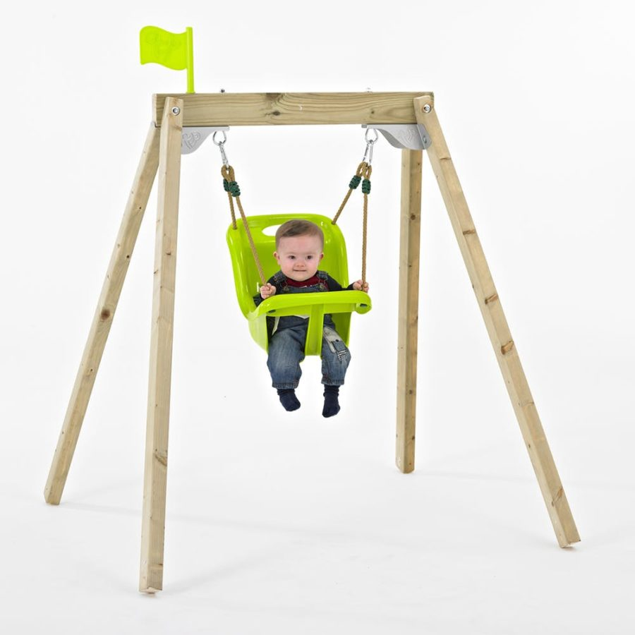 Tp Forest Acorn Growable Wooden Swing Set With Early Fun Baby Seat- Fsc?