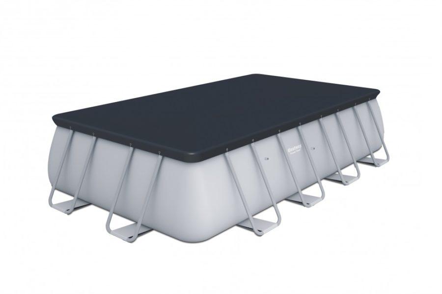 Bestway 56670 Above Ground Pool Rectangular Power Steel 16′ X 8′ / 488x244x122 Cm