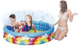 Benross Inflatable Rainbow Spray Kids Swimming Pool