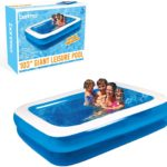 2.6m X 1.75m Family Rectangular Inflatable Paddling Swimming Pool