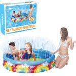 Inflatable Rainbow Spray Kids Swimming | Ball Pool With Spray 150cm X 30cm
