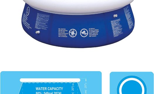 2.4m Round Inflatable Fast Set Swimming Pool (Large)