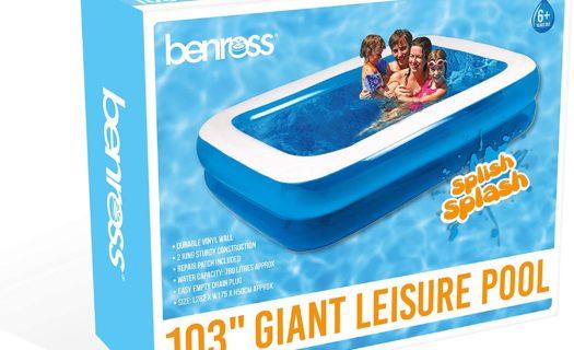 2.6M X 1.75M Family Rectangular Inflatable Paddling Swimming Pool
