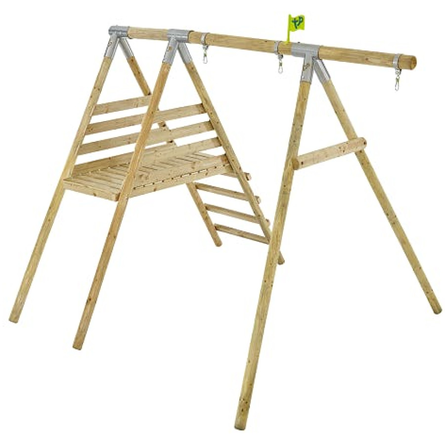 Tp Knightswood Wooden Single & Deck Swing Frame-fsc?