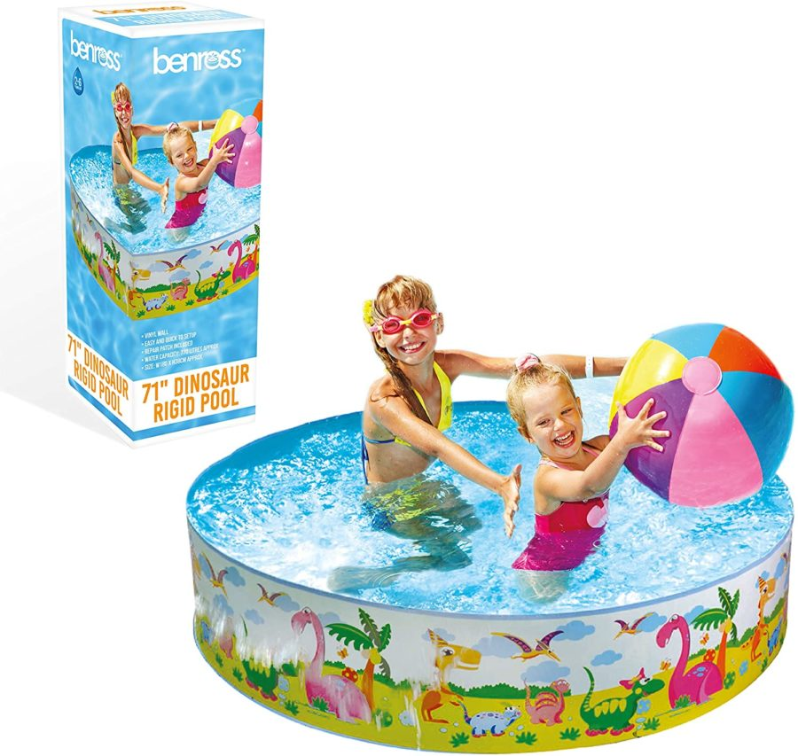 1.8m Rigid Dino Design Swimming Kids Paddling Pool Or Ball Pool