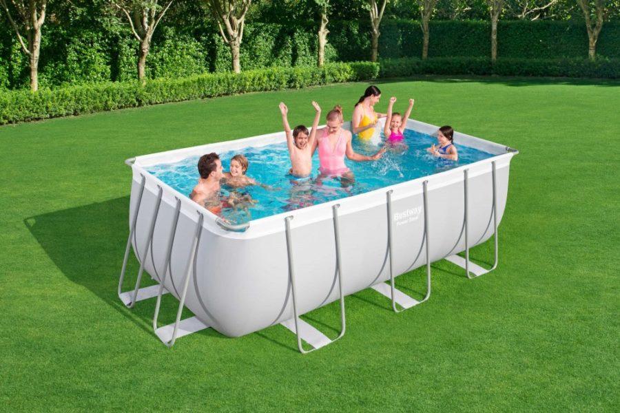 "Bestway 56456 13ft 6"" Power Steel Rectangular Pool Set"