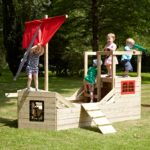 Tp Pirate Galleon Wooden Playhouse – Fsc