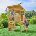 Tp Treetops Wooden Tower Playhouse With Toy Box-fsc?