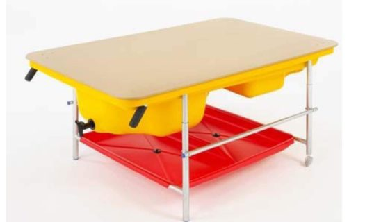 Complete Yellow Cascade Set with Tray, Stand, Shelf & Lid
