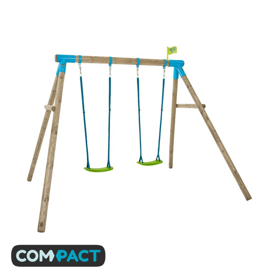 Tp Knightswood Compact Wooden Double Swing Set-fsc?