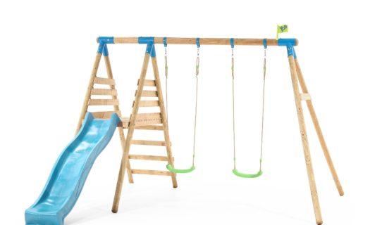 TP Brecon Wooden Double Swing Set & Slide-FSC®