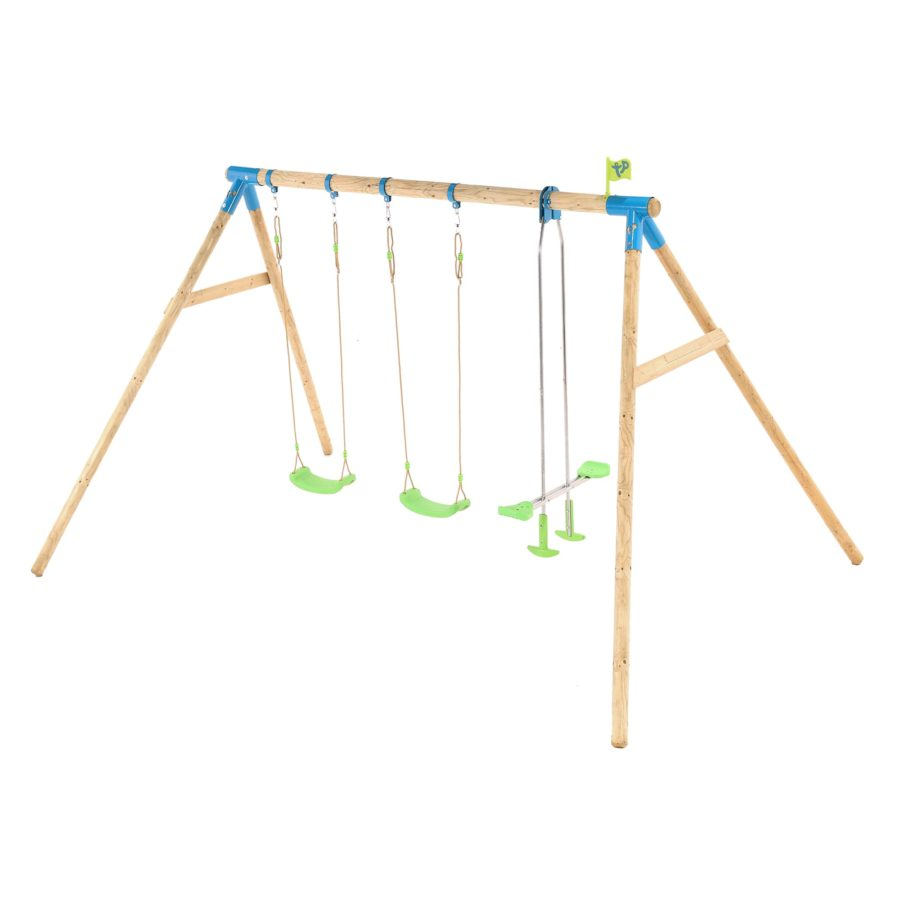 Tp Woburn Wooden Triple Swing Set-fsc?