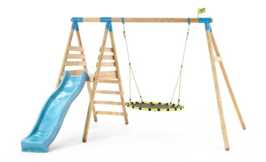 TP Fiordland Wooden Swing Set & Slide-FSC®