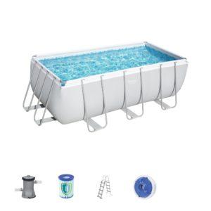 Bestway 56456 13ft 6? Power Steel Rectangular Pool Set
