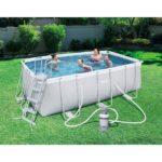 Bestway 56457 Rectangular Pool Power Steel 13ft 6in X 6ft 7in X 48in