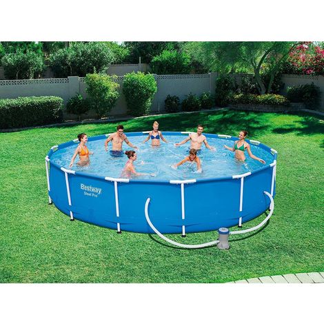 Bestway 56595 Above Ground Swimming Pool Round Steel Pro Max 427cm X 84cm