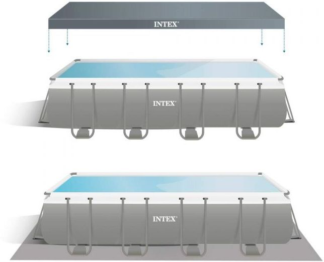 Intex Ultra Xtr Frame Rectangular Pool 18ft X 9ft X 52in 26356