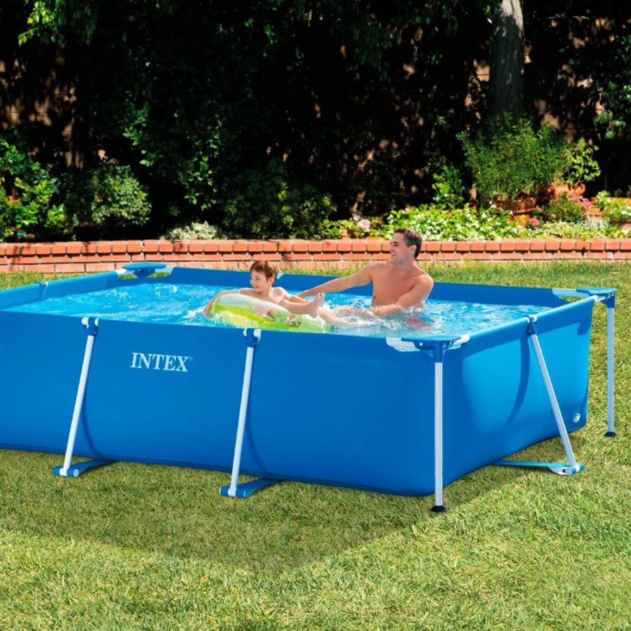 28272 Intex Rectangular Metal Frame Pool No Pump 3m X 2m X 75cm