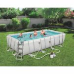 Bestway Power Steel Rectangular Pool 18ft X 9ft 48″ – 56466