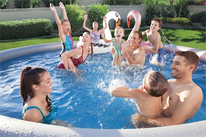 Bestway 57313 15′ X 33″/4.57m X 84cm Fast Set Pool