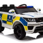 Kids Police Range Rover Style Suv 4×4 Off Road 12v Electric Jeep – Black