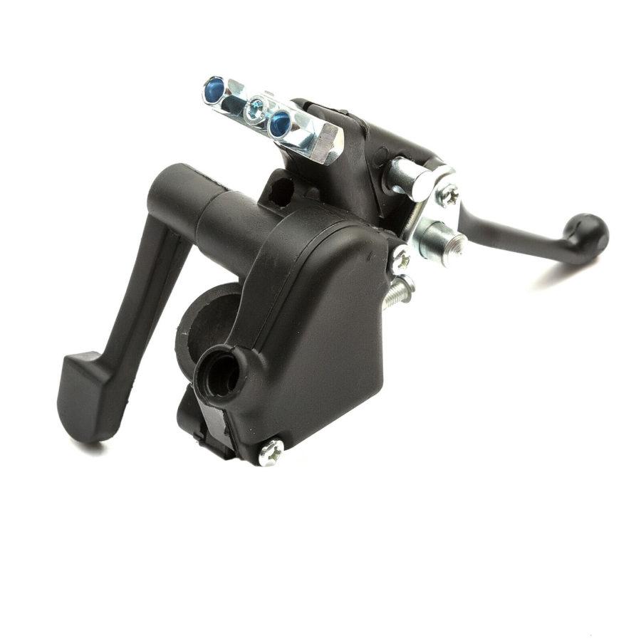 Mini Midi Moto Electric Quad Bike Atv Switched Thumb Throttle Twin Brake Lever