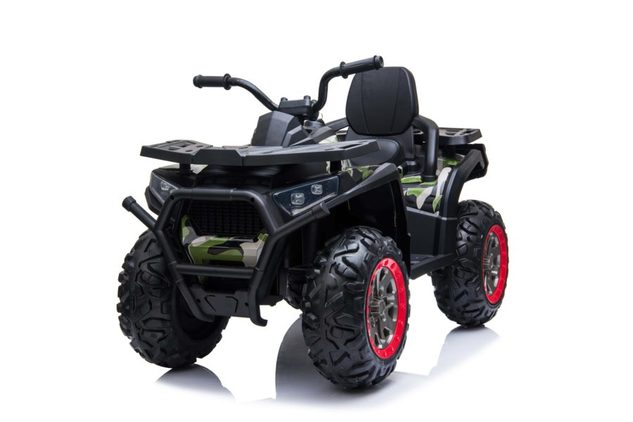 Kids Ride On Quad Bike 24v 4wd Bluetooth And Radio – Camo