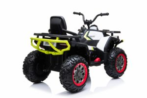 Kids Ride On Quad Bike 24v 4wd Bluetooth And Radio – White