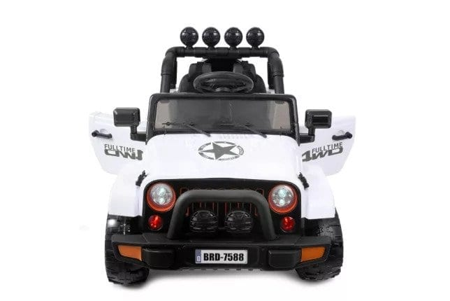 Jeep Style 12v Kids Ride On Car 4 Wheel Drive Motors, 2.4g Rc – White