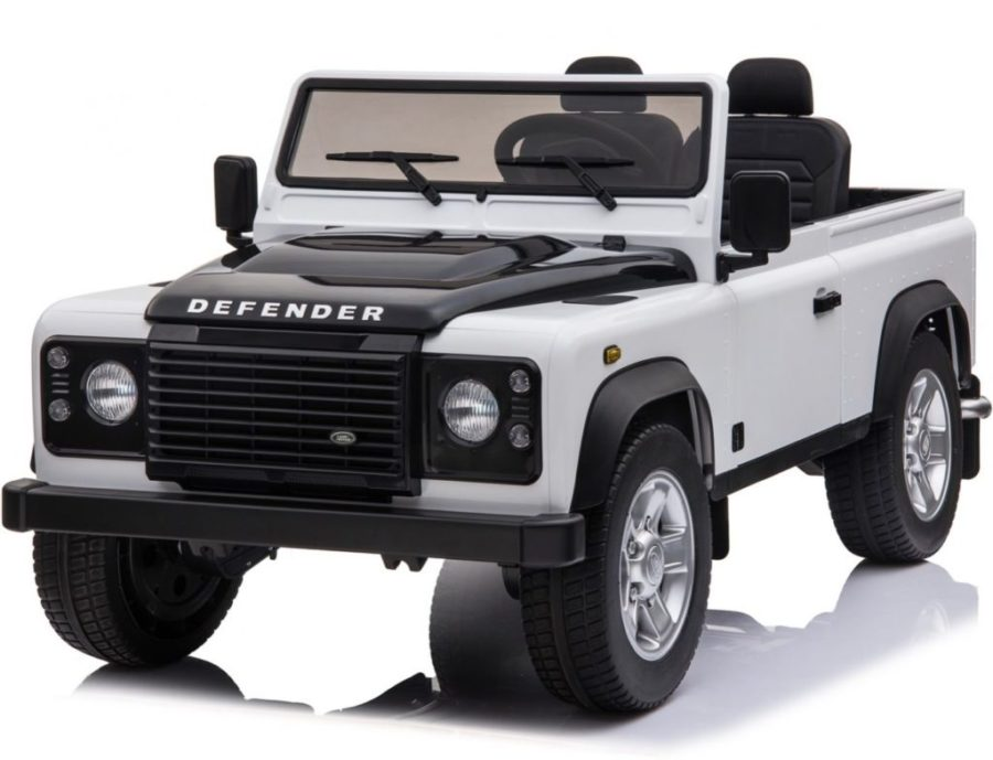 Licensed Land Rover Defender 90 24v* 4wd Ride On Pickup Style Jeep – White