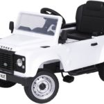 Licensed Pedal Land Rover Defender 90 Kids Ride On Car – White