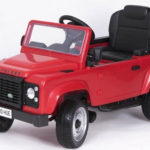 Licensed Pedal Land Rover Defender 90 Kids Ride On Car – Red