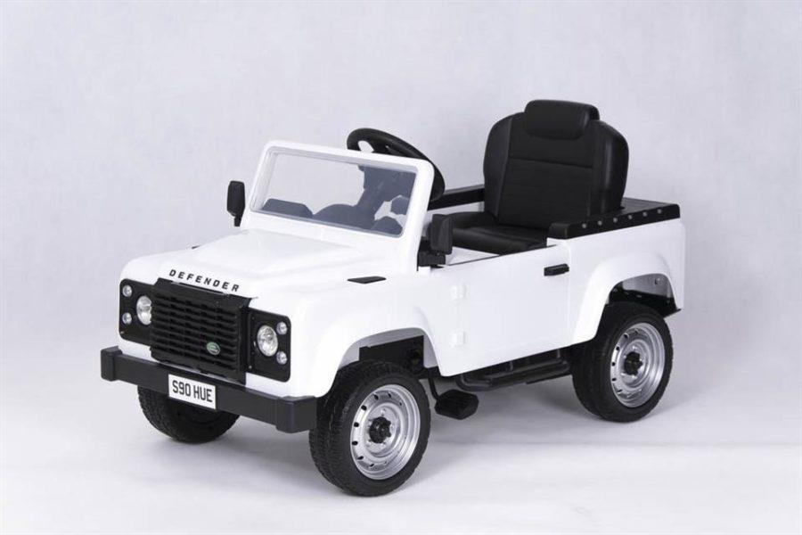 Licensed Pedal Land Rover Defender 90 Kids Ride On Car – White