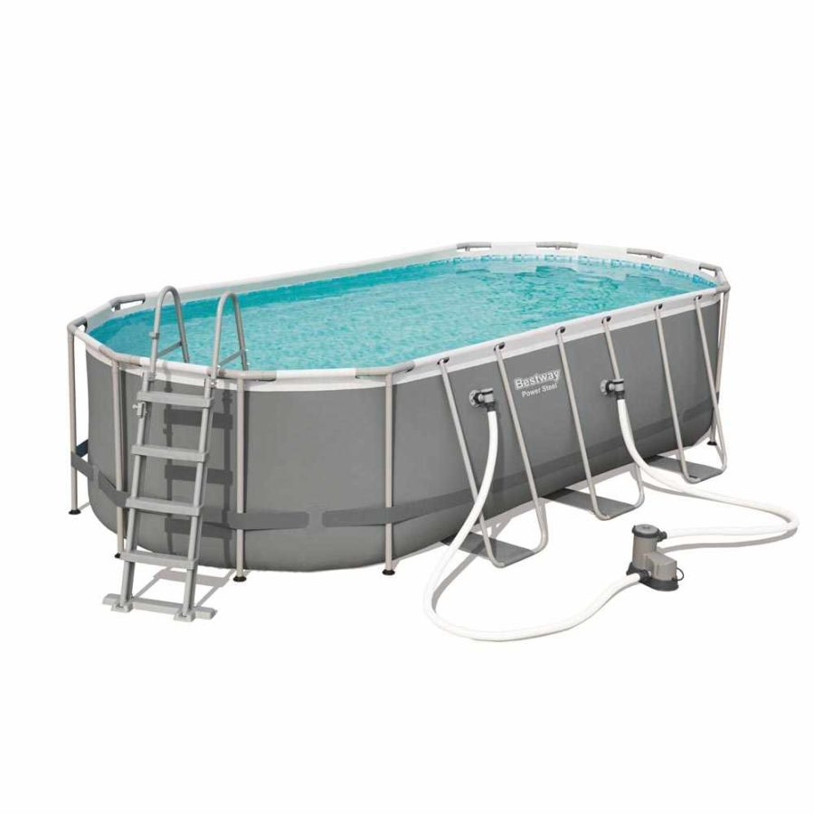 Bestway 56710 18ft Power Steel Oval Above Ground Pool 549x274x122 Cm