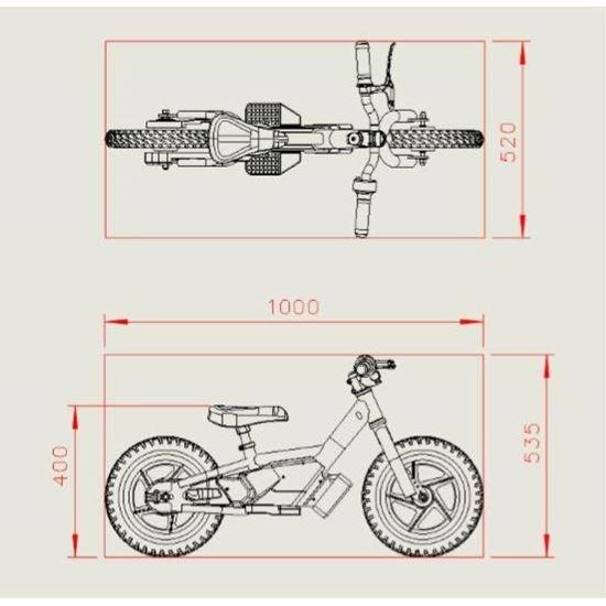 Amped A10 Green 100w Electric Kids Balance Bike